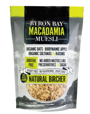 Byron Bay Macadamia Muesli Natural Bircher 450g - Fresh Food Enterprises