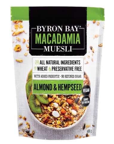 Byron Bay Muesli Almond & Organic Hempseed Muesli 400g - Fresh Food Enterprises