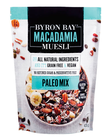 Byron Bay Macadamia Muesli Paleo Mix 500g - Fresh Food Enterprises