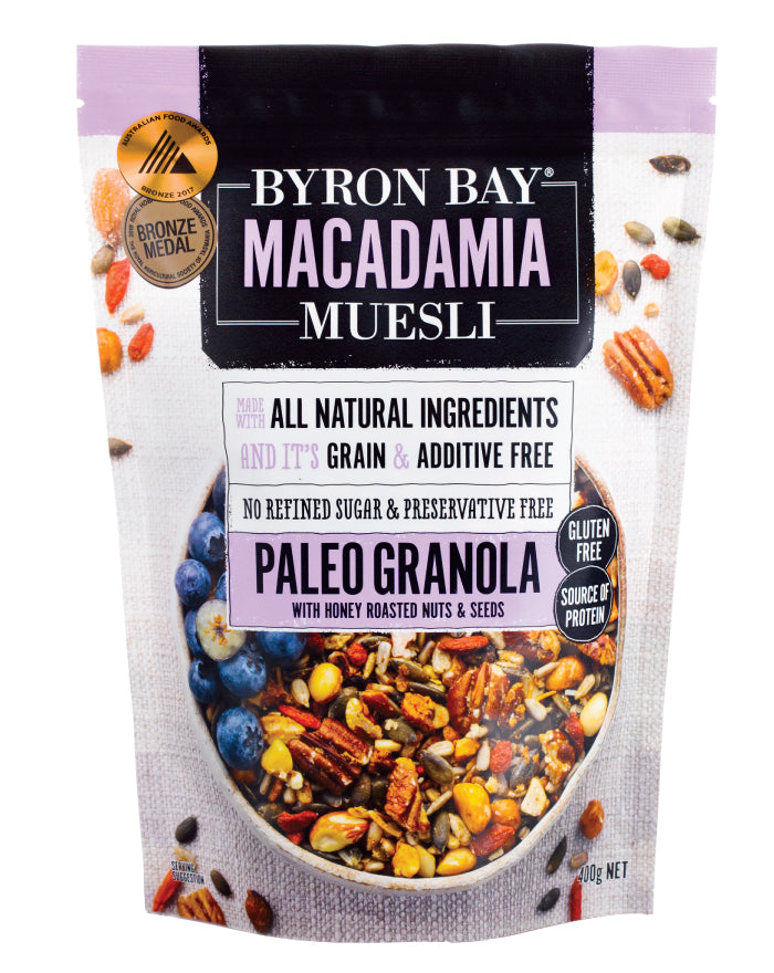 Byron Bay Macadamia Muesli Paleo Granola 450g - Fresh Food Enterprises