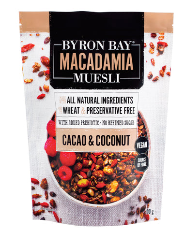 Byron Bay Muesli Cacao & Coconut Granola 400g - Fresh Food Enterprises