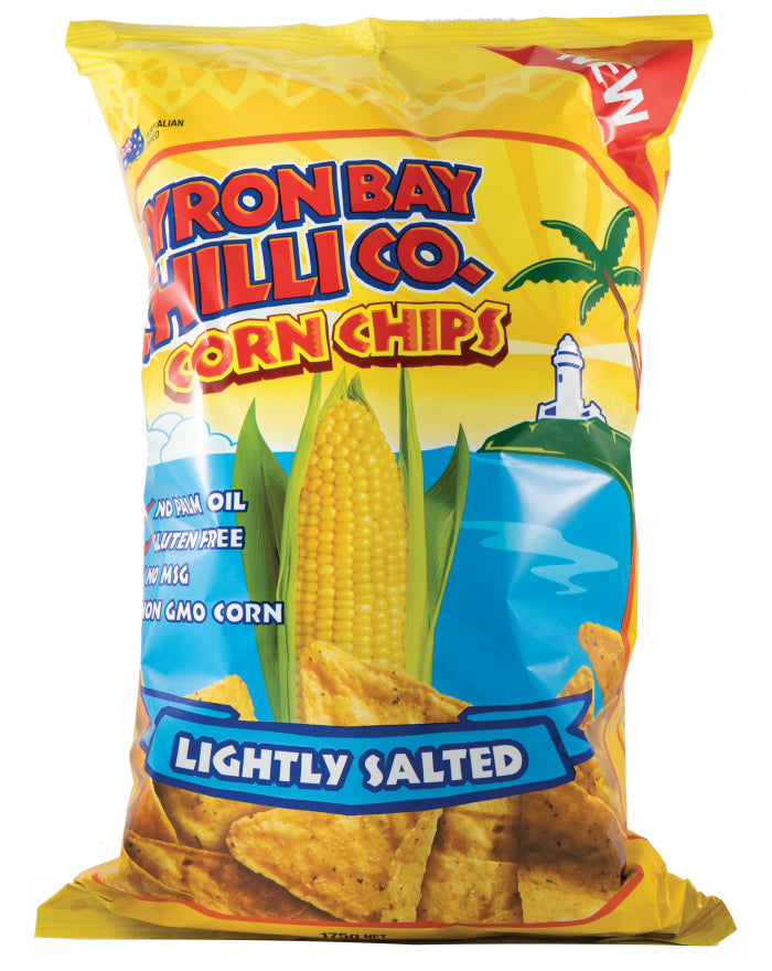 Byron Bay Chilli Cornchips Lightly Salted 175g - Fresh Food Enterprises