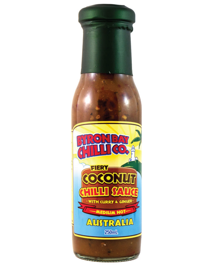 Byron Bay Chilli Fiery Coconut Chilli Sauce 250ml - Fresh Food Enterprises