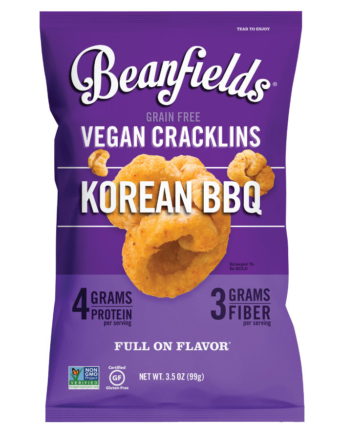 Beanfields Vegan Cracklins Korean BBQ 99g