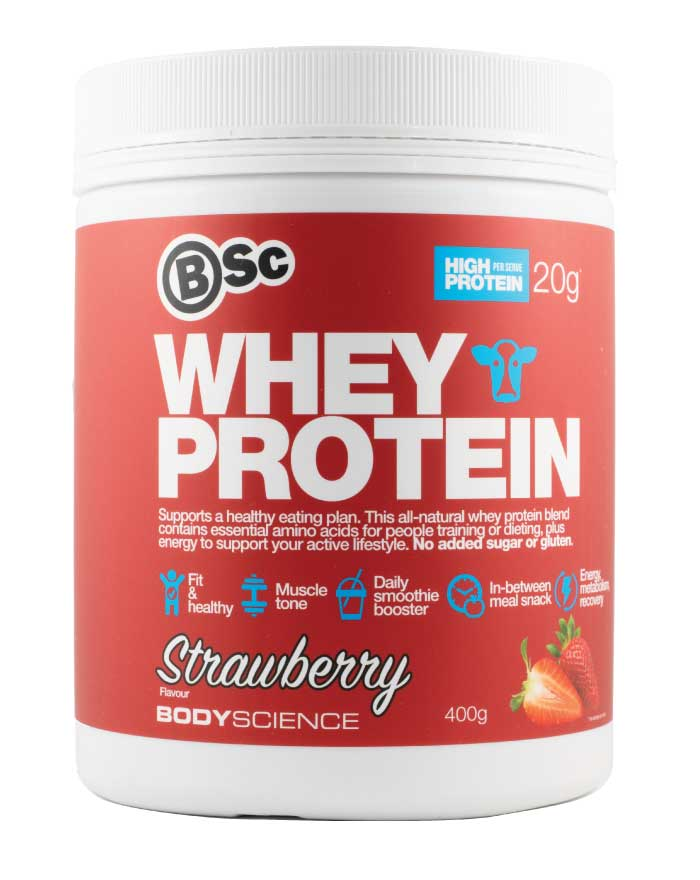 Body Science Whey Protein Strawberry 400g - Fresh Food Enterprises
