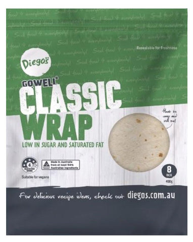 Diego's GoWELL Classic Wrap 400g - Fresh Food Enterprises
