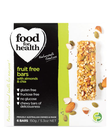 Food for Health Almonds & Chia Fruit Free Bars 150g