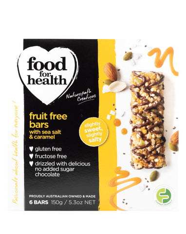 Food for Health Sea Salt & Caramel Fruit Free Bars 150g