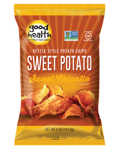 Good Health Snacks Sweet Potato Chips Maple Chipotle 142g