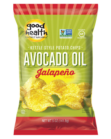 Good Health Snacks Avocado Oil Potato Chips Jalapeno 142g