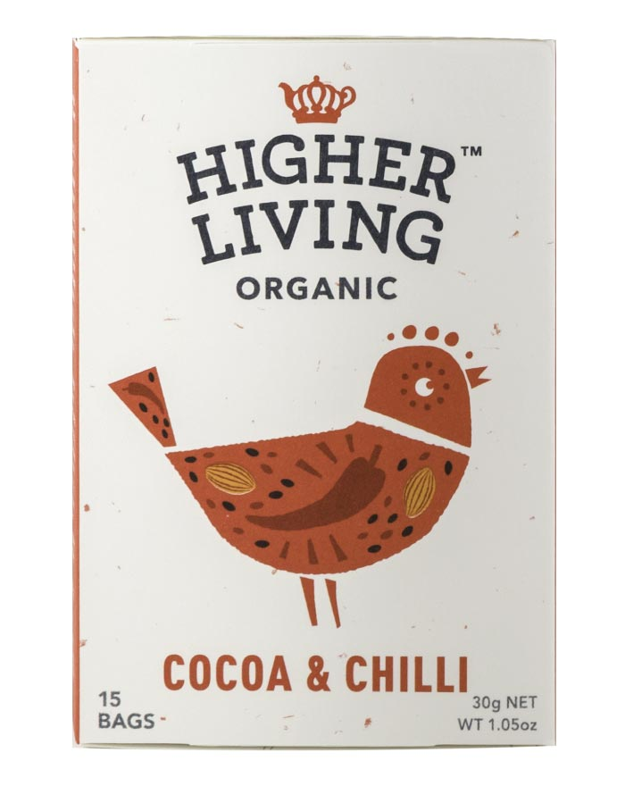 Higher Living Organic Cocoa Chilli 3 x 27g - Fresh Food Enterprises