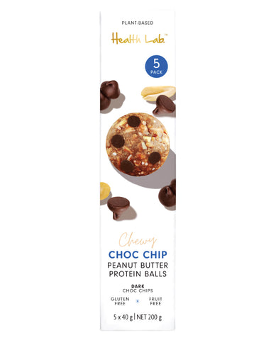 Health Lab Multipack Chewy Choc Chip Peanut Butter Ball 200g
