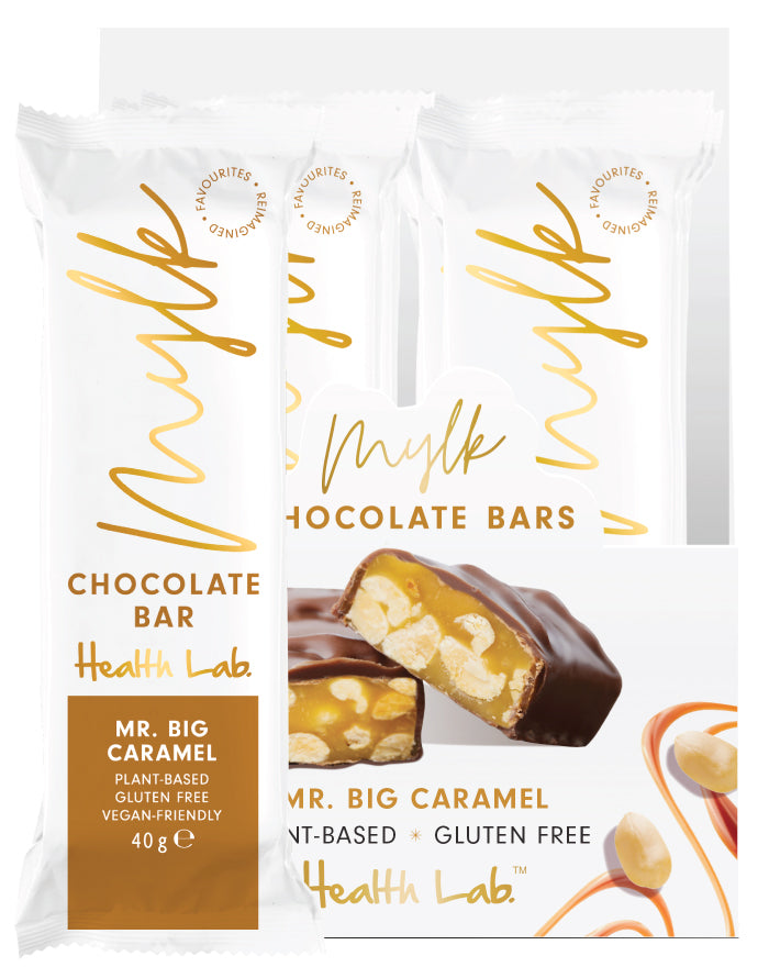 Health Lab Mylk Chocolate Bars Caramel Peanut 40g
