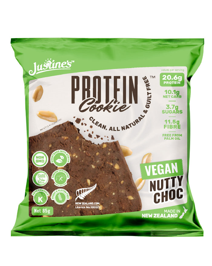 Justine's Protein Cookie Vegan Nutty Choc 85g