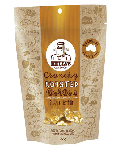Kellys Candy Co Pouch Peanut Brittle 200g - Fresh Food Enterprises