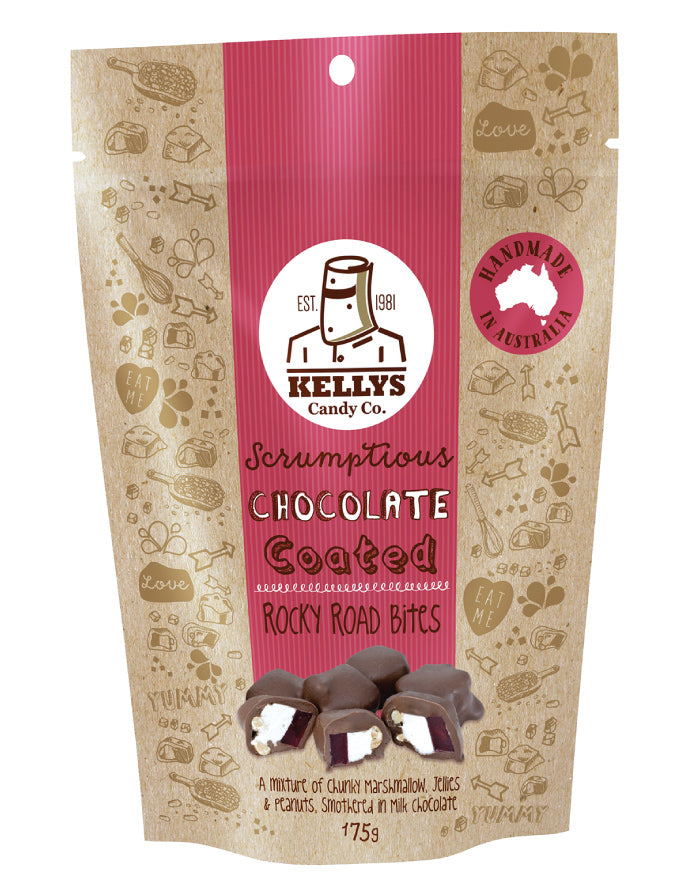 Kellys Candy Co Pouch Rocky Road Bites 175g