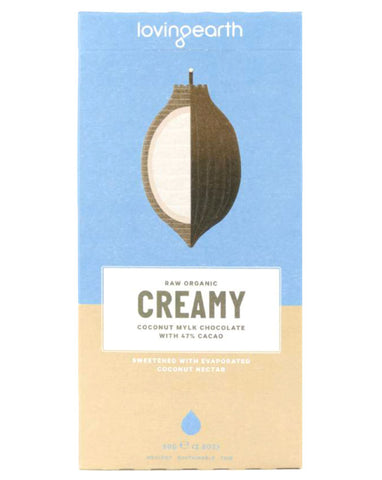 Loving Earth Organic Creamy Coconut Mylk Chocolate 80g - Fresh Food Enterprises