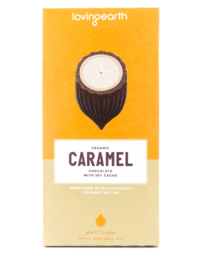 Loving Earth Organic Caramel Chocolate 80g - Fresh Food Enterprises