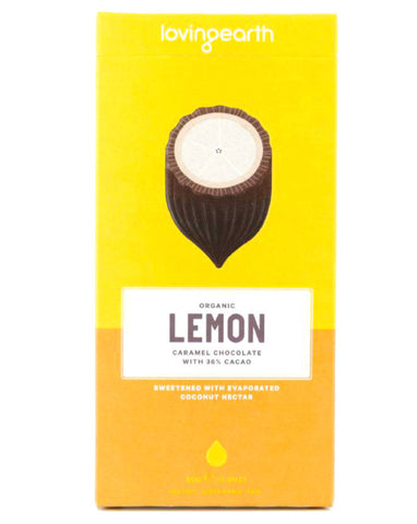Loving Earth Organic Lemon Caramel Cheesecake Chocolate 80g - Fresh Food Enterprises