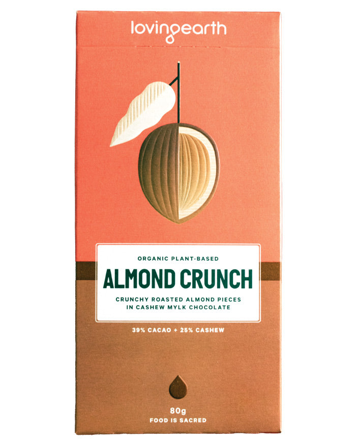 Loving Earth Chocolate Almond Crunch 80g