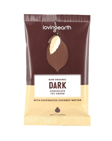 Loving Earth Organic Dark Chocolate 30g - Fresh Food Enterprises