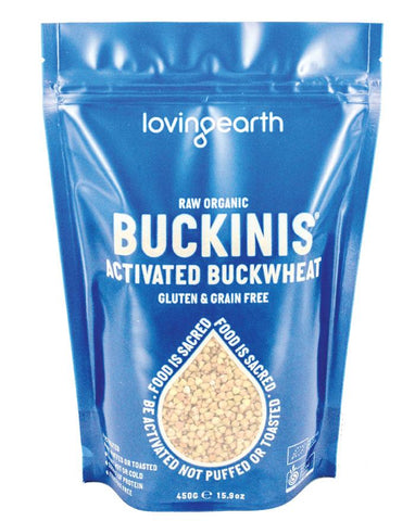 Loving Earth Organic Activated Buckins 450g - Fresh Food Enterprises