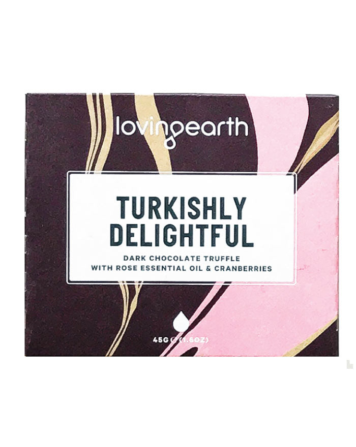 Loving Earth Organic Turkishly Delightful Chocolate 45g - Fresh Food Enterprises