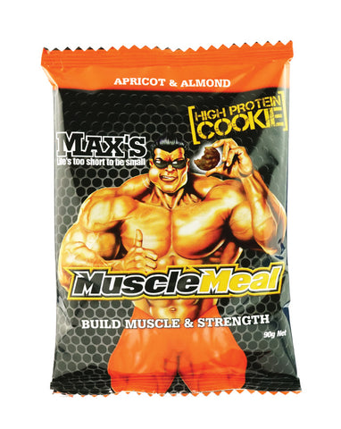 Max's Muscle Meal Cookies Apricot & Almond 12 x 90g - Fresh Food Enterprises