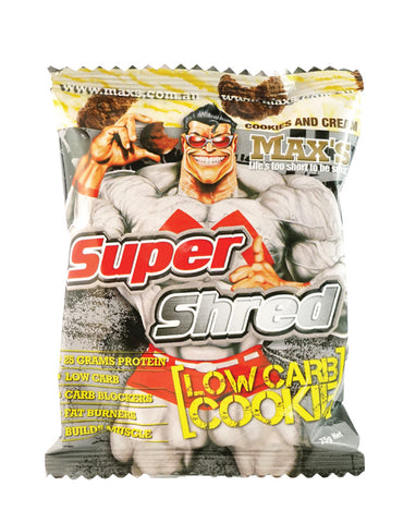 Max's Super Shred Cookies Cookies & Cream 75g - Fresh Food Enterprises