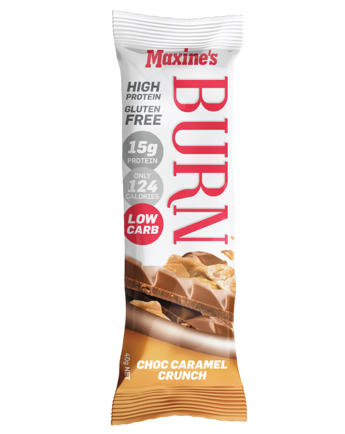 Maxine's Burn Bar Caramel Crunch 12 x 40g - Fresh Food Enterprises
