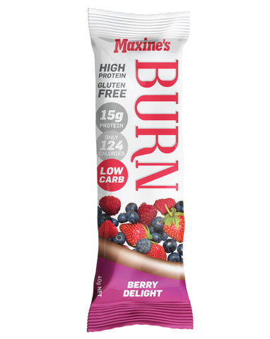 Maxine's Burn Bar Berry Delight 12 x 40g - Fresh Food Enterprises