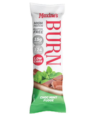 Maxine's Burn Bar Choc Mint 12 x 40g - Fresh Food Enterprises