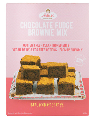 Melinda's Bakery Choc Fudge Brownie 415g - Fresh Food Enterprises