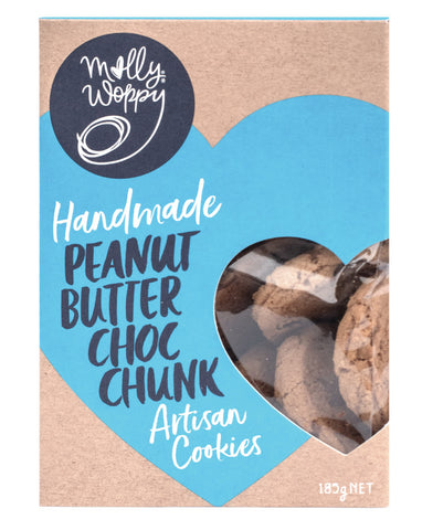 Molly Woppy Artisan Cookies Peanut Butter Choc Chunk 185g
