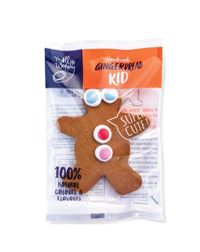 Molly Woppy Gingerbread Kid Counter Display 18x21g - Fresh Food Enterprises