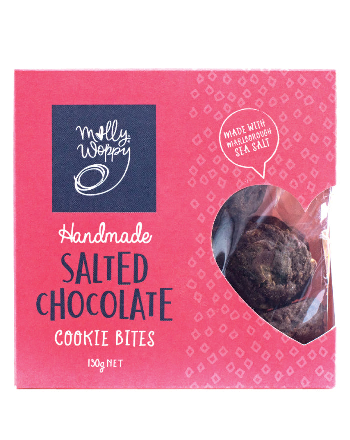 Molly Woppy Bites Cookie Salted Chocolate 130g