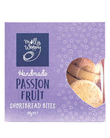 Molly Woppy Bites Shortbread Passionfruit 125g
