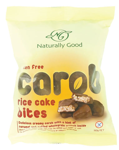 Naturally Good Carob Rice Cake Bites 150g - Fresh Food Enterprises
