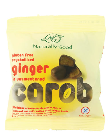 Naturally Good Carob Ginger Pieces 125g - Fresh Food Enterprises