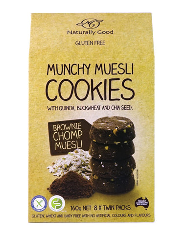 Naturally Good Munchy Muesli Cookies Brownie Chomp 160g - Fresh Food Enterprises