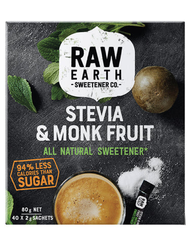 Raw Earth Monk Fruit Sweetener (sticks) 80g - Fresh Food Enterprises