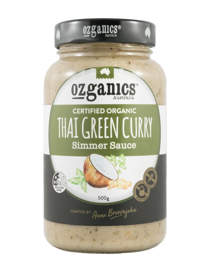 Ozganics Thai Green Curry Sauce 500g - Fresh Food Enterprises