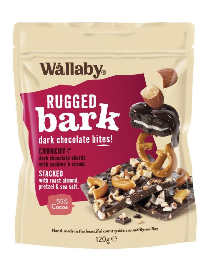Wallaby Rugged Bark Cookies and Cream Pretzel and Sea Salt 1 x 120g - Fresh Food Enterprises