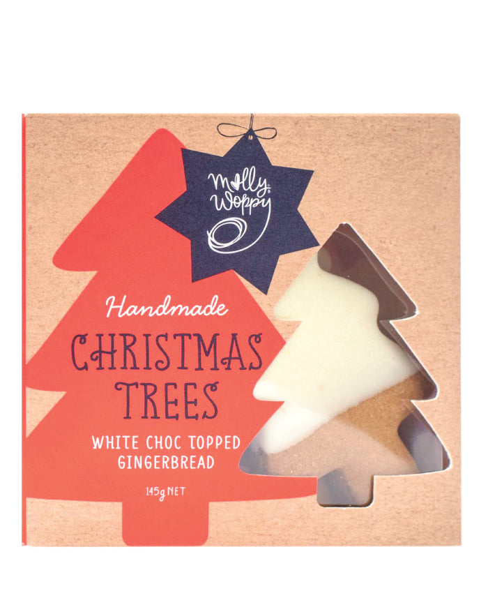 Molly Woppy Festive Tress White Choc Topped Gingerbread 145g