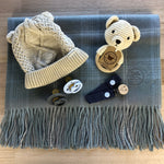 Baby Boy- Misty Check Teddy Ring
