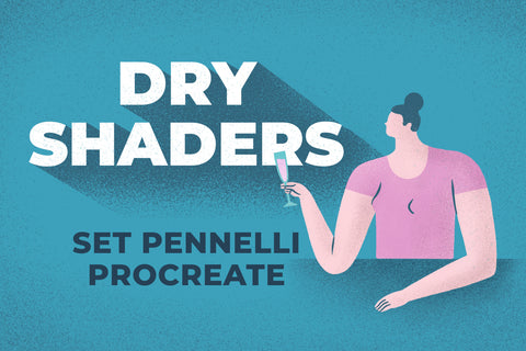 DRY SHADERS SET DI PENNELLI PROCREATE