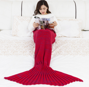 Mermaid tail wool blanket pajamas