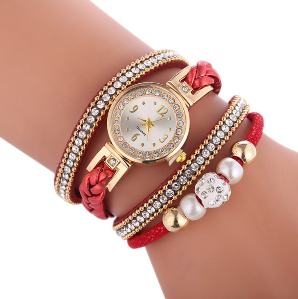 Fashion crystal bracelet watch