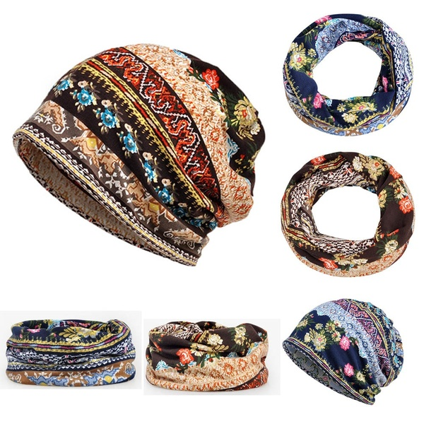 Fashion floral print hat