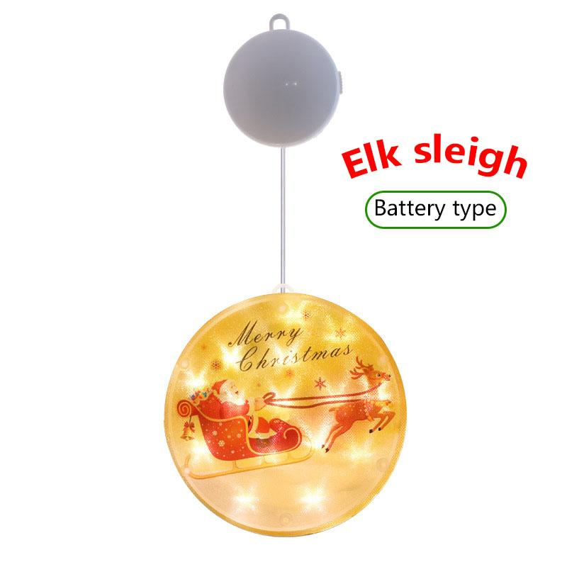 Christmas LED Printing Sucker Hanging Lamp